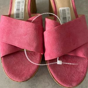 Vince Camuto Suede Wedge Shoes.